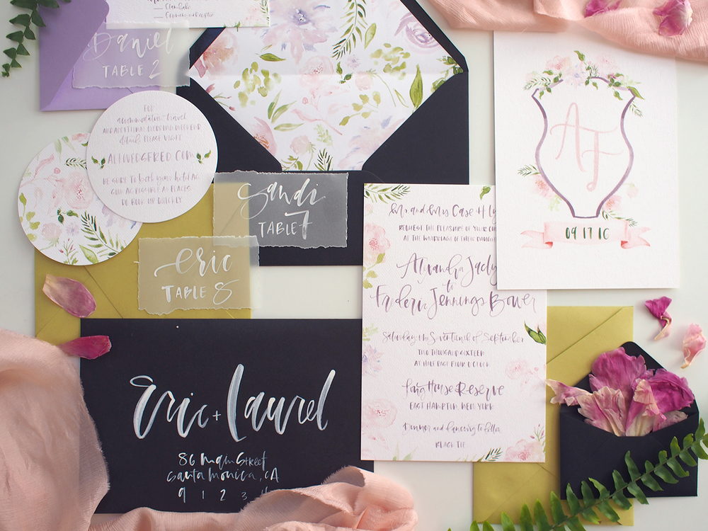 watercolor floral invitation and rsvp | A Fabulous Fete