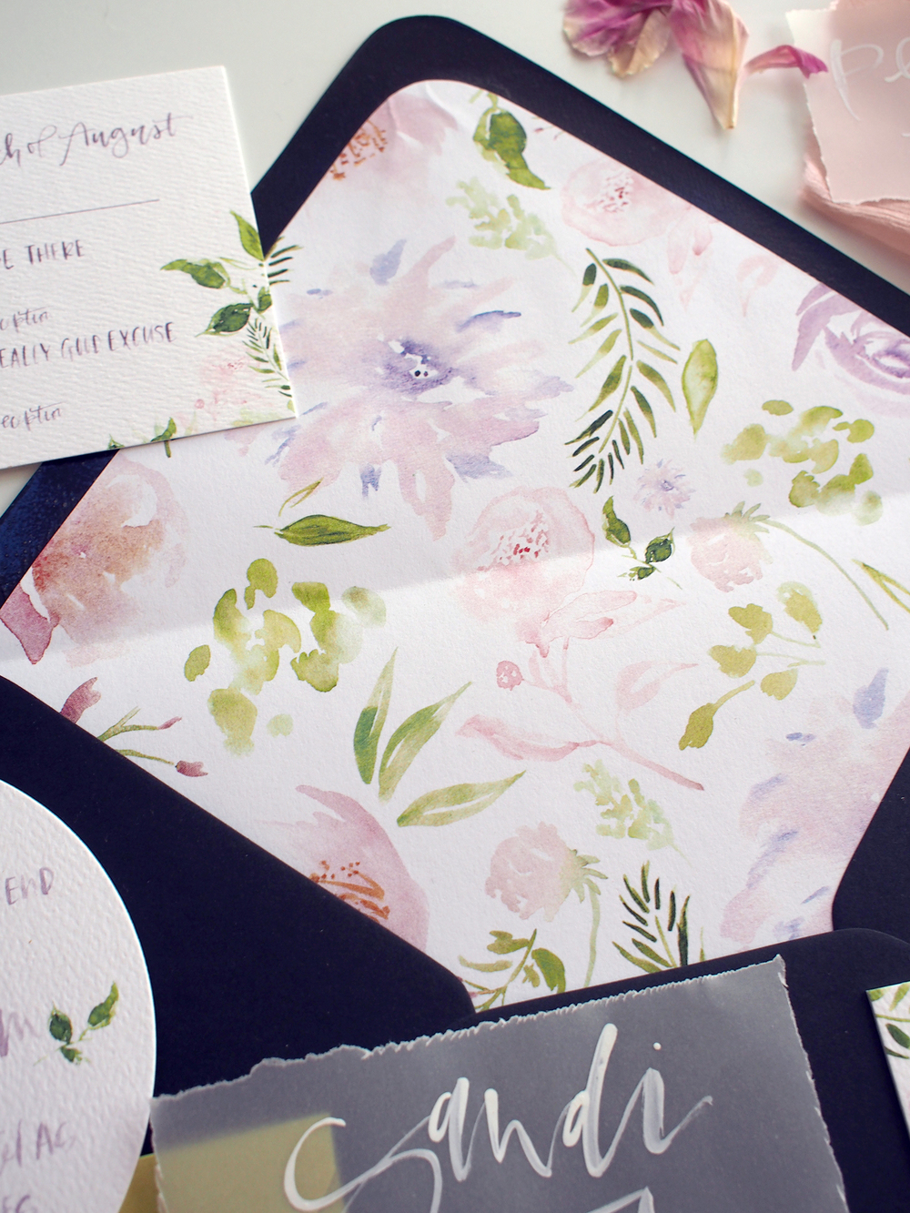 custom peony and green floral liner | A Fabulous Fete