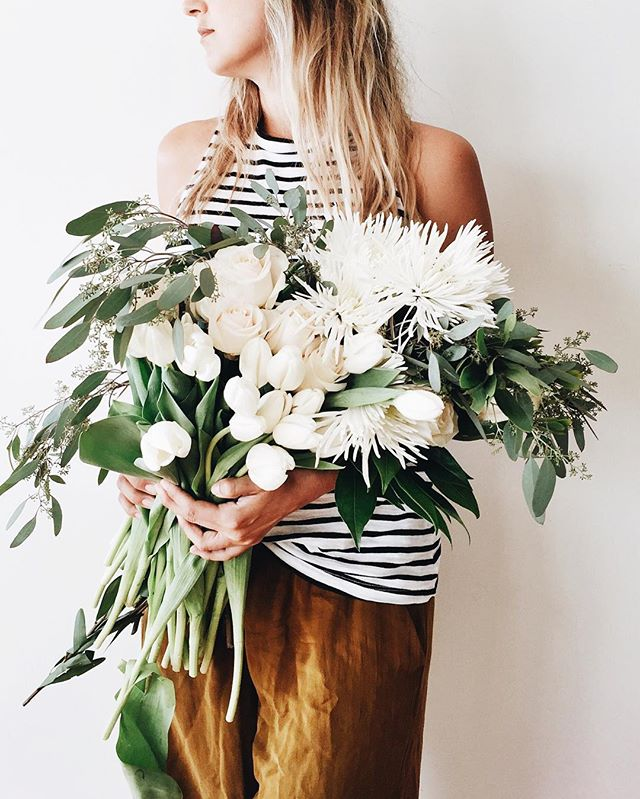 Stripes and fresh flowers.jpg