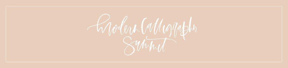 modern calligraphy summit | a fabulous fete