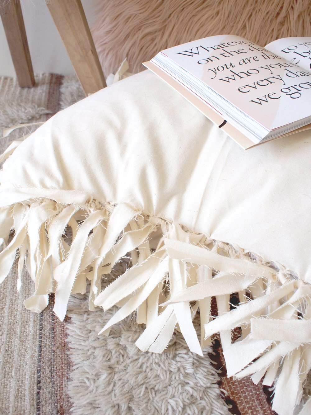 Fringe floor pillow detail | A Fabulous Fete