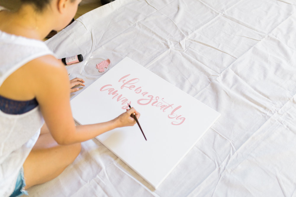 Brush lettering for party signage | A Fabulous Fete