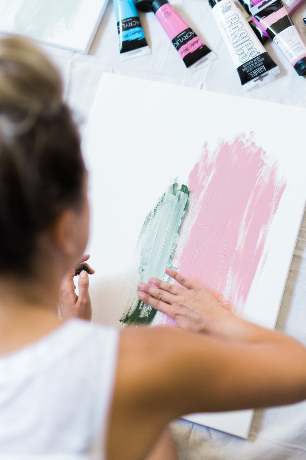A finger painting party... for adults! | A Fabulous Fete