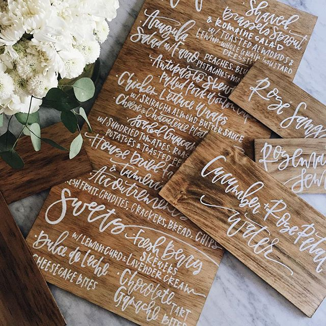 Custom Calligraphy Menu | A Fabulous Fete
