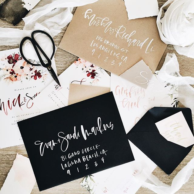 Custom Calligraphy Invitations | A Fabulous Fete