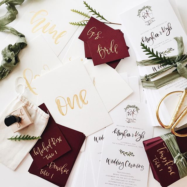 Fall Palette Wedding Invitation Suite | A Fabulous Fete