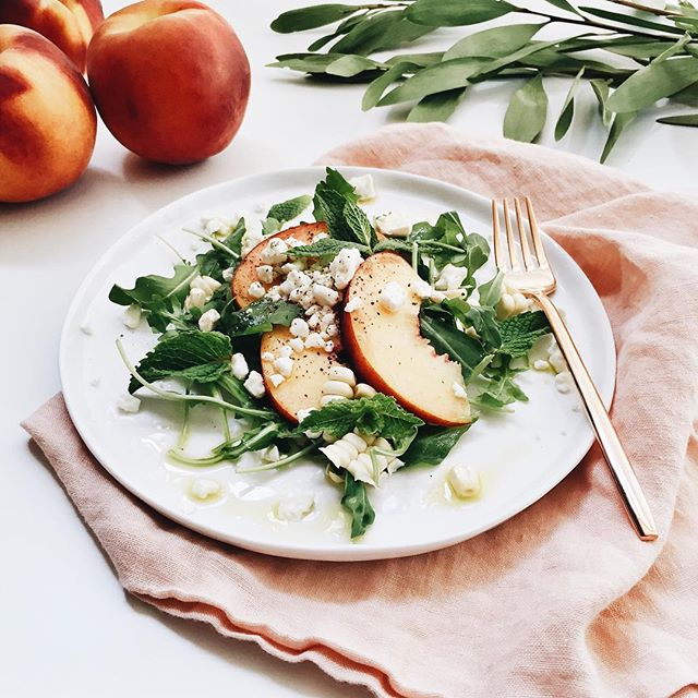 Peach + Corn Salad | A Fabulous Fete