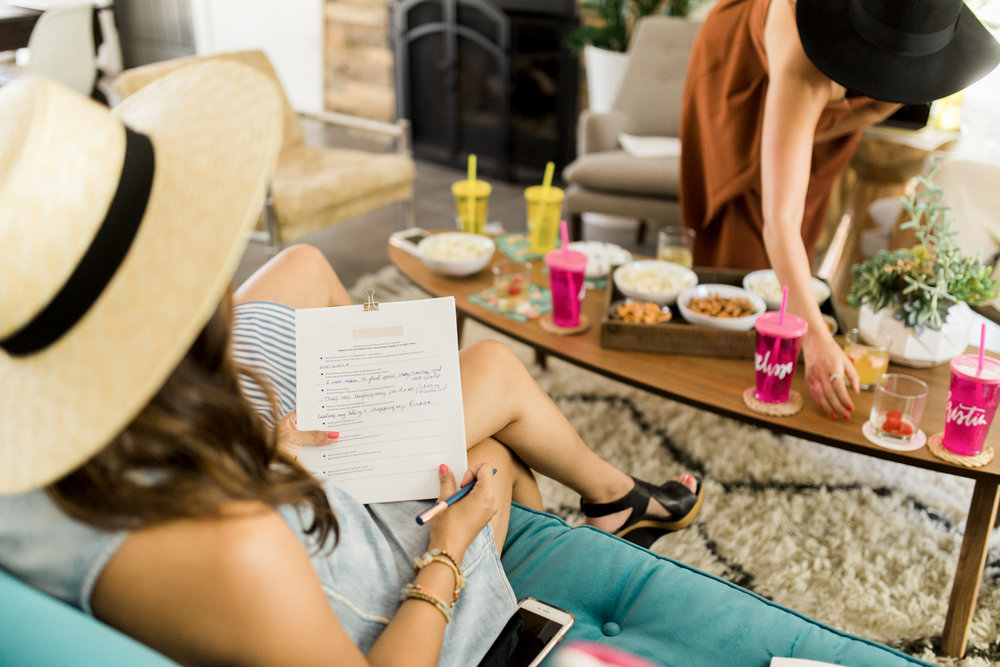 Note taking. See a few points we touched on during our BlogRX Retreat in the recap | A Fabulous Fete