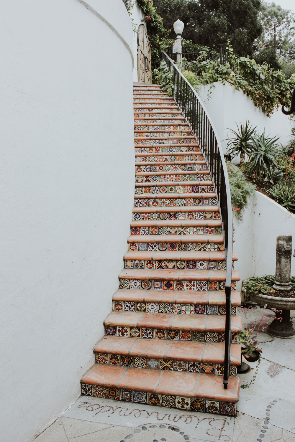 Spanish tile stairway | A Fabulous Fete