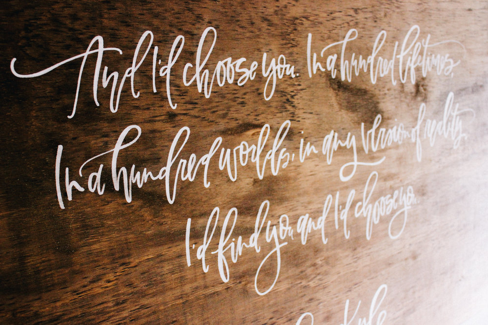 Rustic calligraphy signs for your wedding or home | A Fabulous Fete