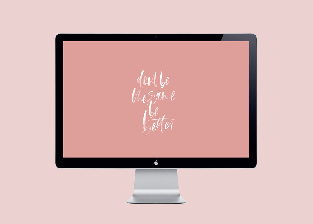 Hand lettered desktop download by A Fabulous Fete