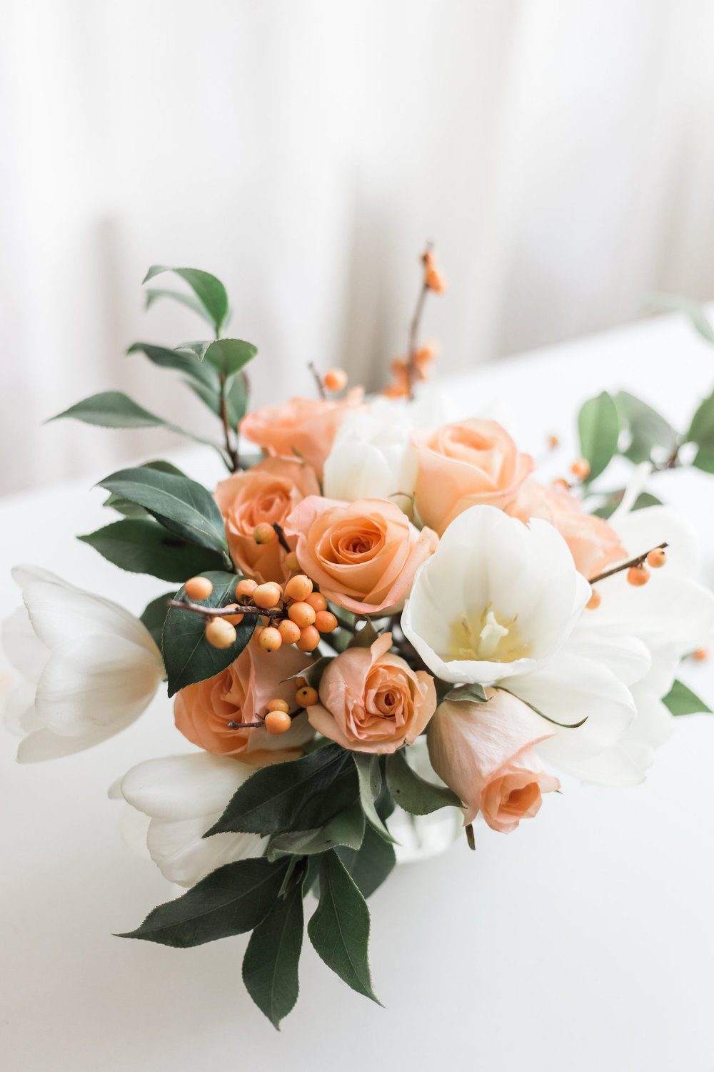 A simple arrangement with tulips and roses | A Fabulous Fete