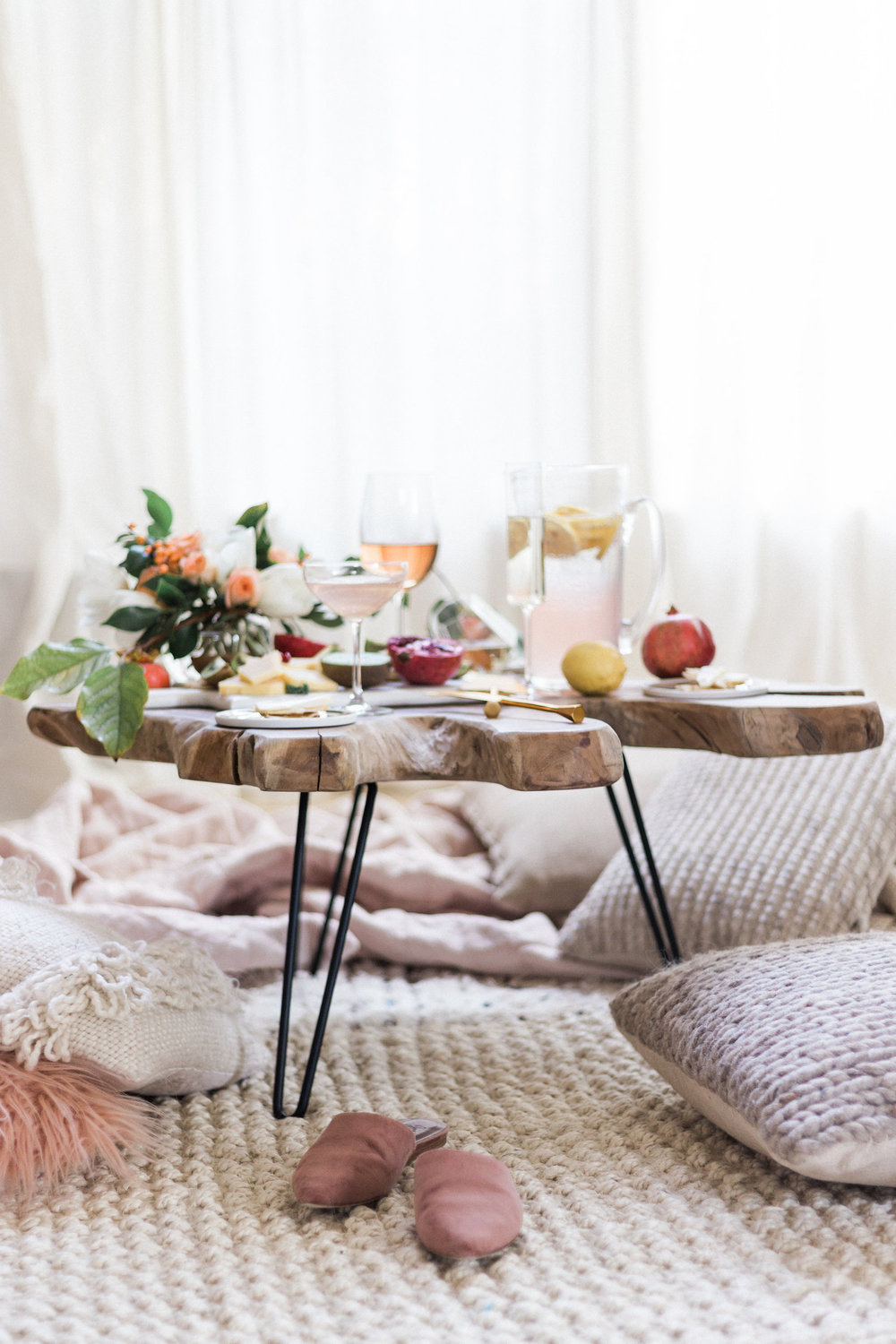Living room coffee table picnic | A Fabulous Fete