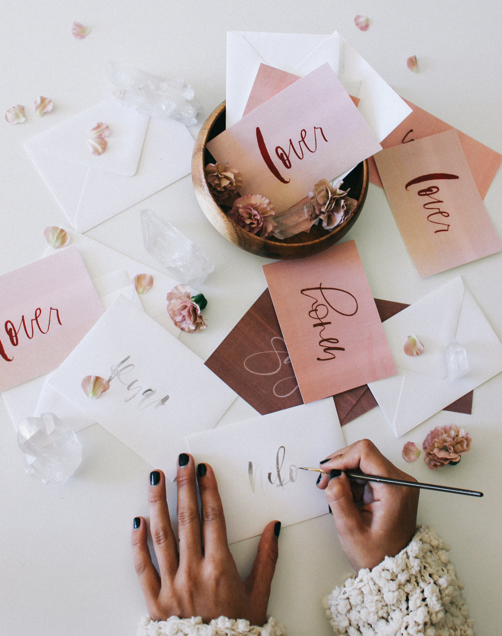Free hand lettered valetines | A Fabulous Fete