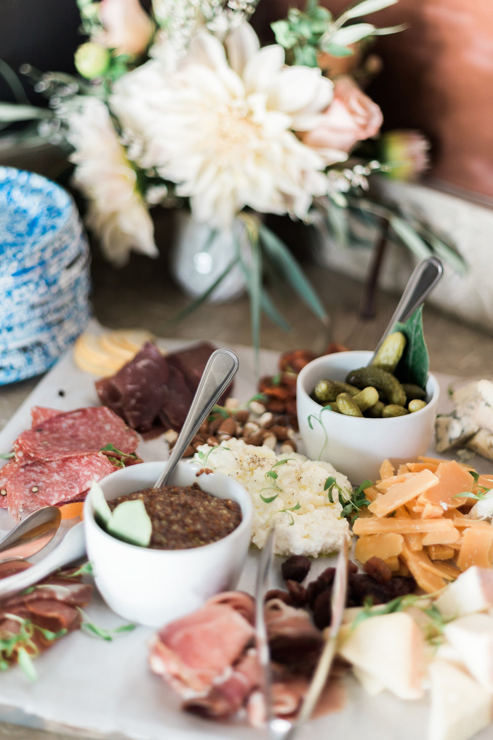 Charcuterie plate at Pacific Edge bungalows in Laguna Beach | A Fabulous Fete