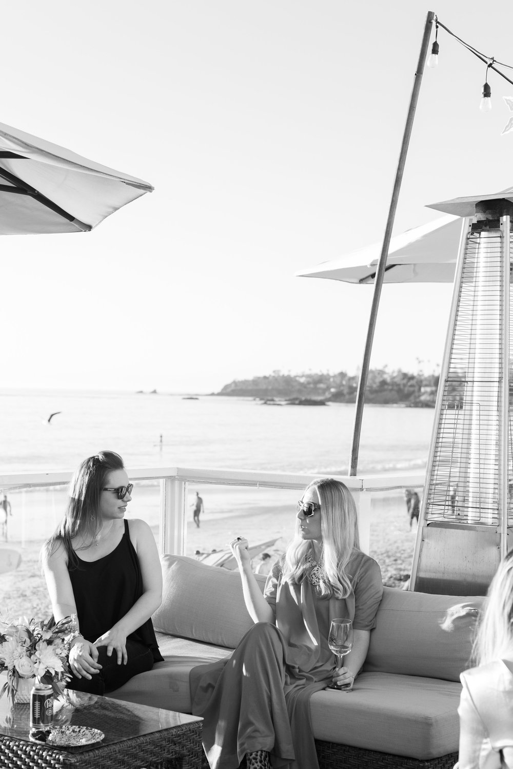 Party guests at our beach bungalow in Laguna | A Fabulous Fete
