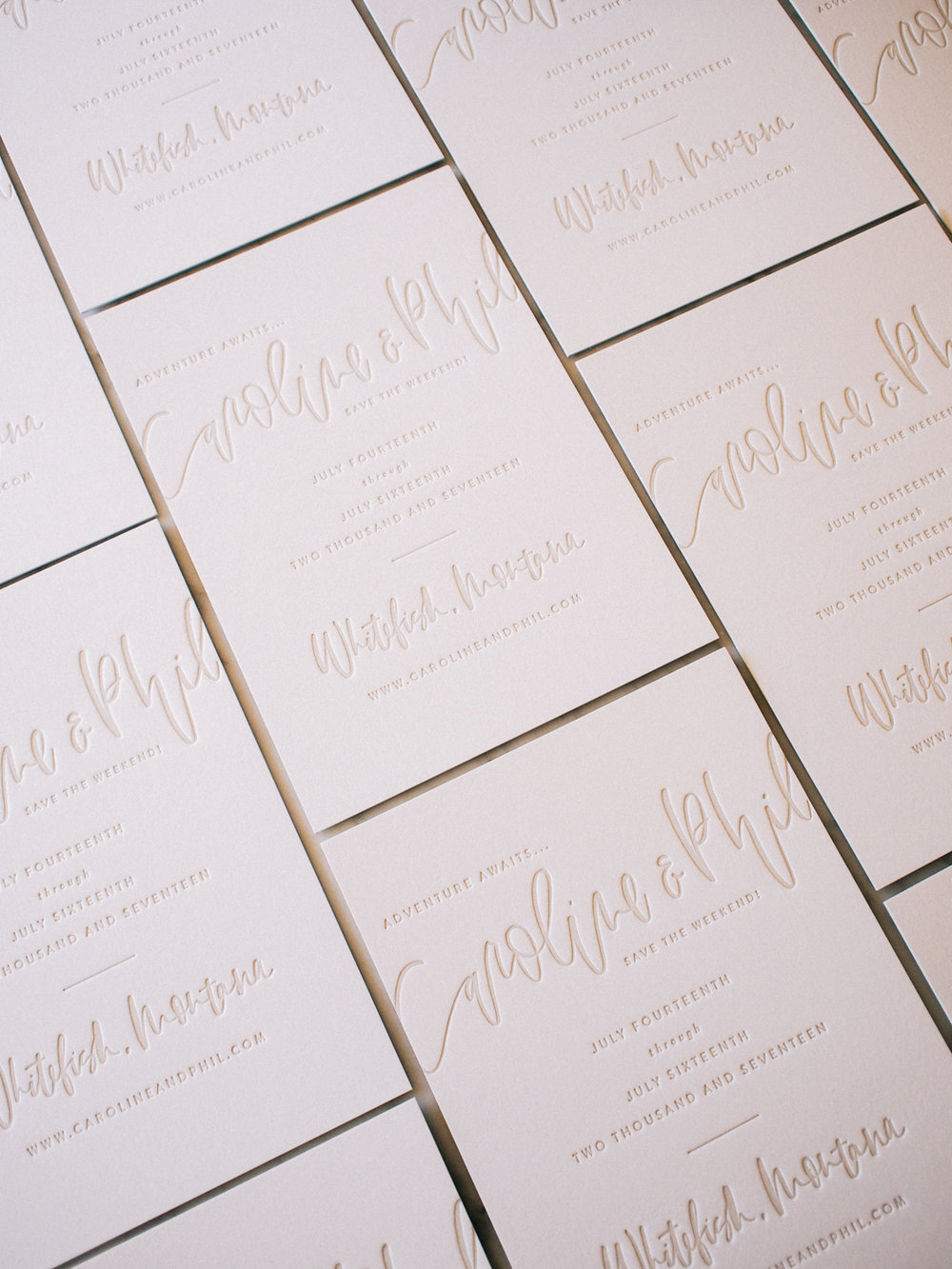 Hand lettered semi-custom save the dates | A Fabulous Fete