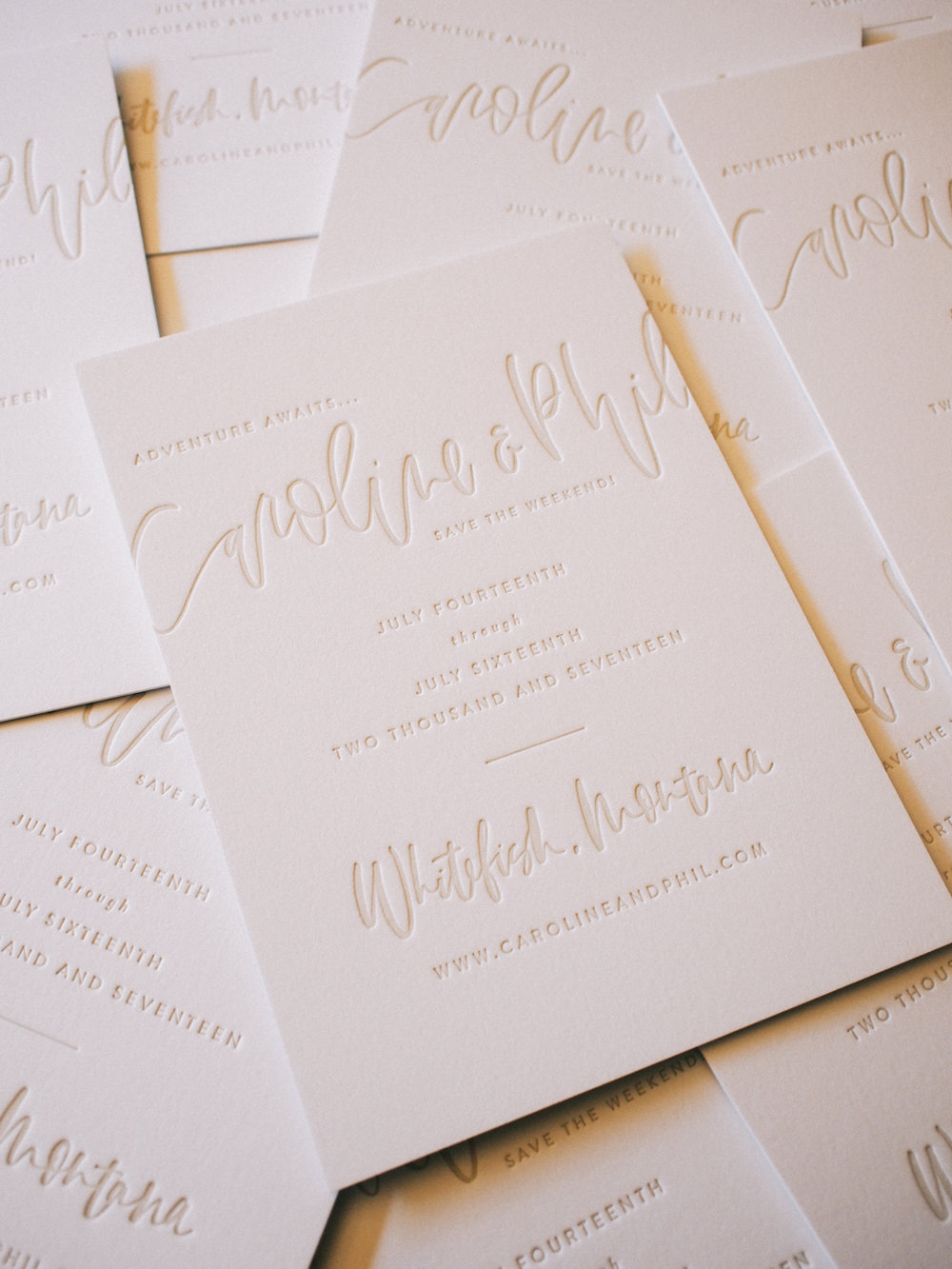 Simple taupe letterpress save the date | A Fabulous Fete