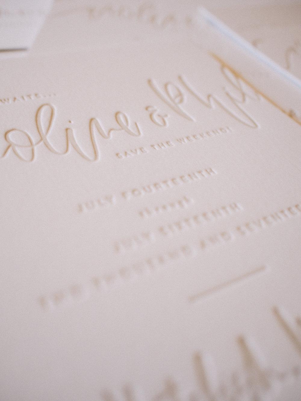Letterpress details | A Fabulous Fete