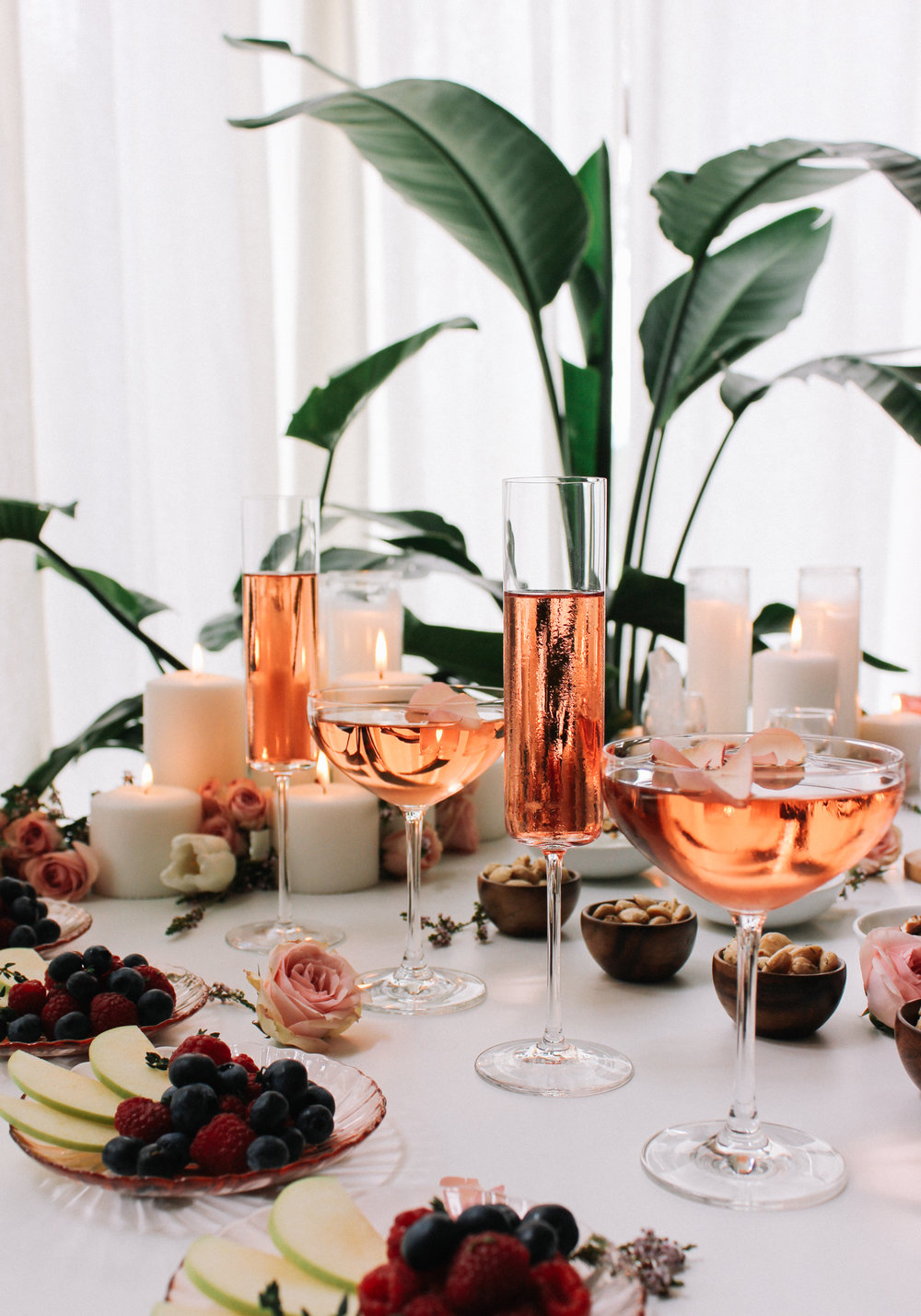 Mix and match glasses to add a little interest to your bar or dinner table | A Fabulous Fete