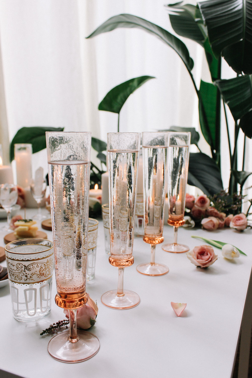 Break out your fanciest glassware for water too! | A Fabulous Fete