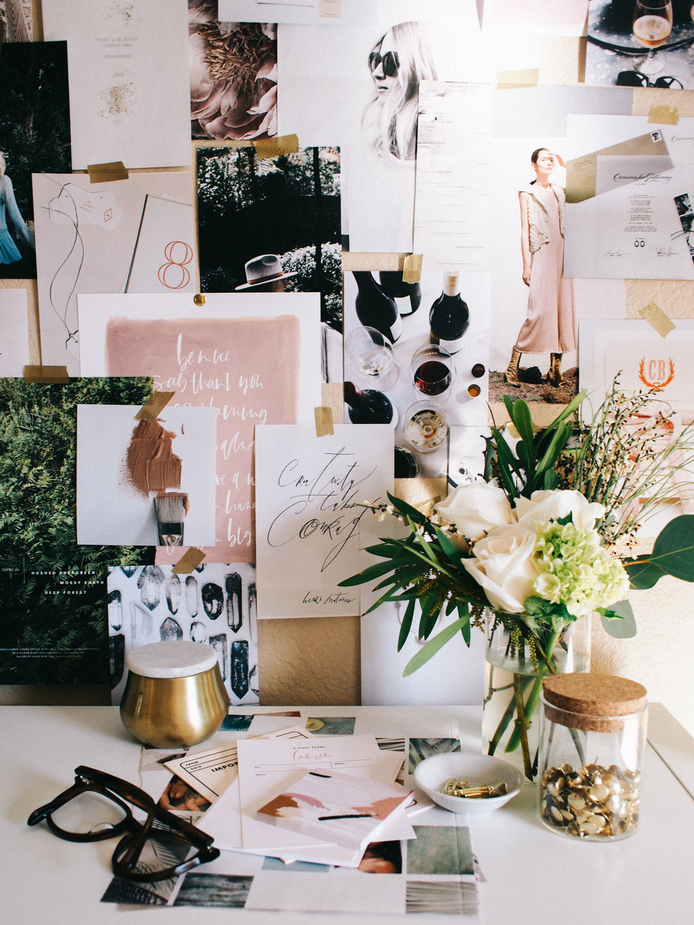 Home office vignette | A Fabulous Fete