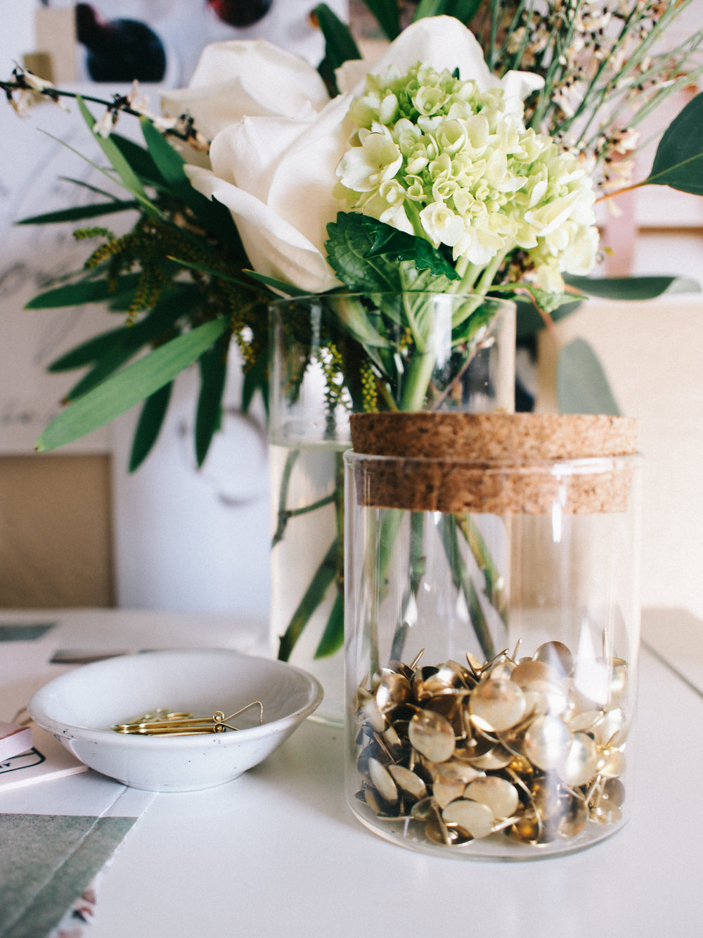 Glass corked jar with push pins | A Fabulous Fete