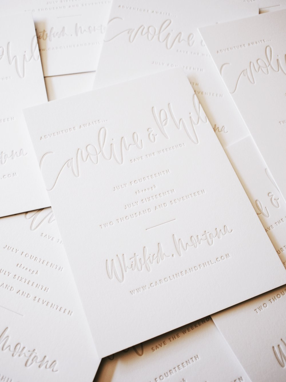 Letterpress Wedding Suite | A Fabulous Fete