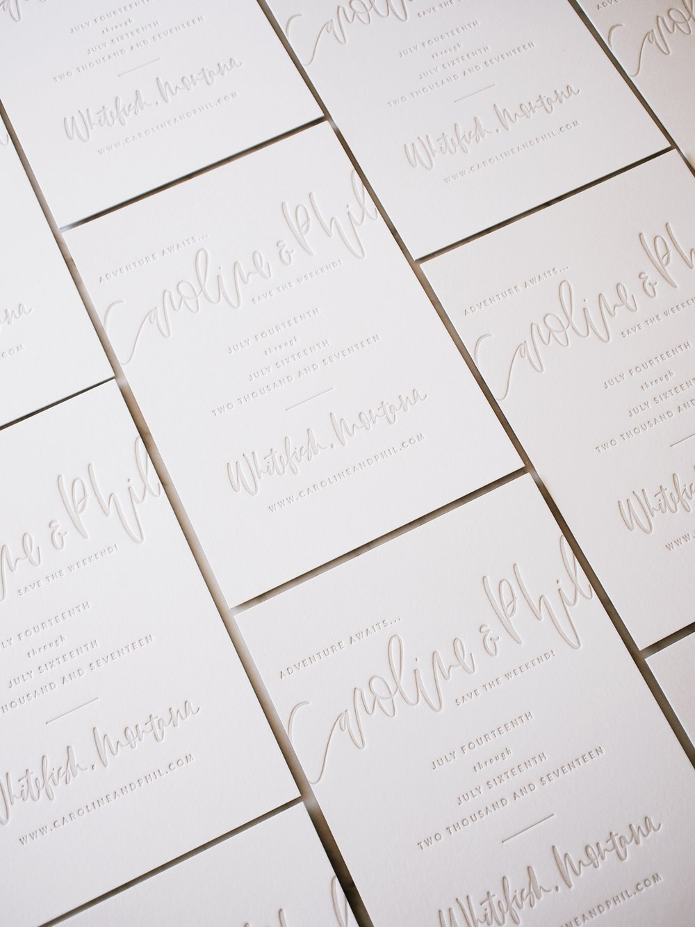 Custom hand lettered letterpress suite | A Fabulous Fete