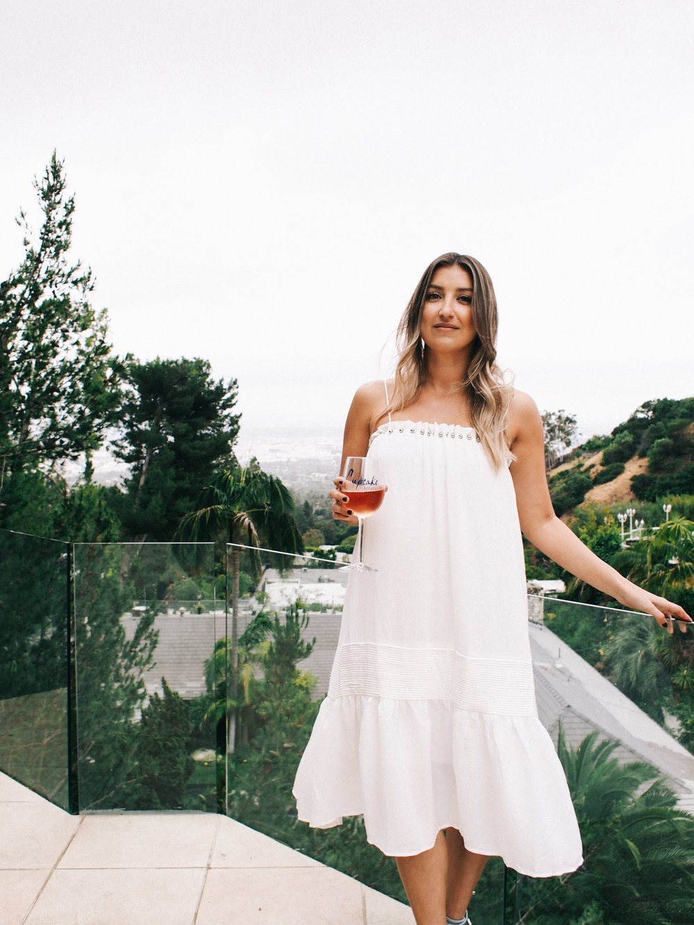 White summer dress for Rosé launch party | A Fabulous Fete