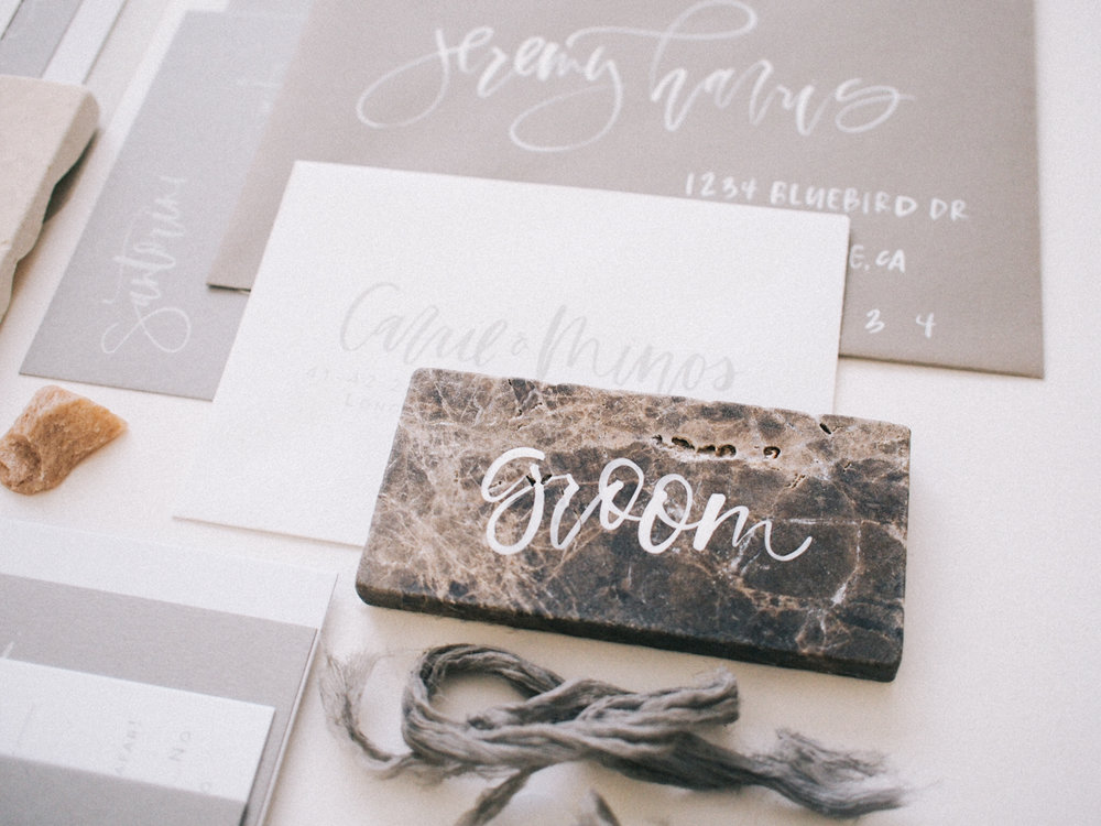 Neutral wedding stationery | A Fabulous Fete