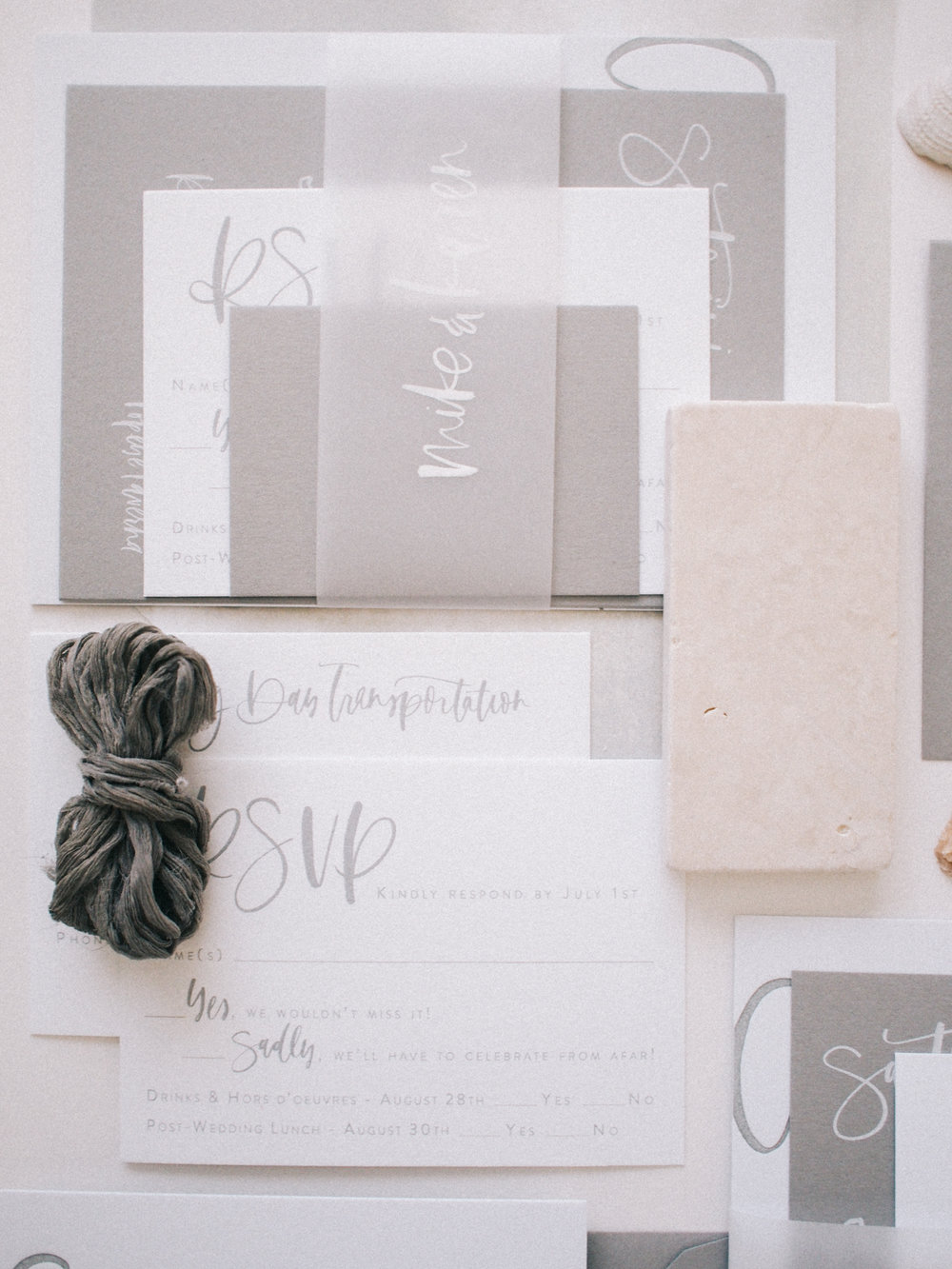 All grey wedding suite details | A Fabulous Fete