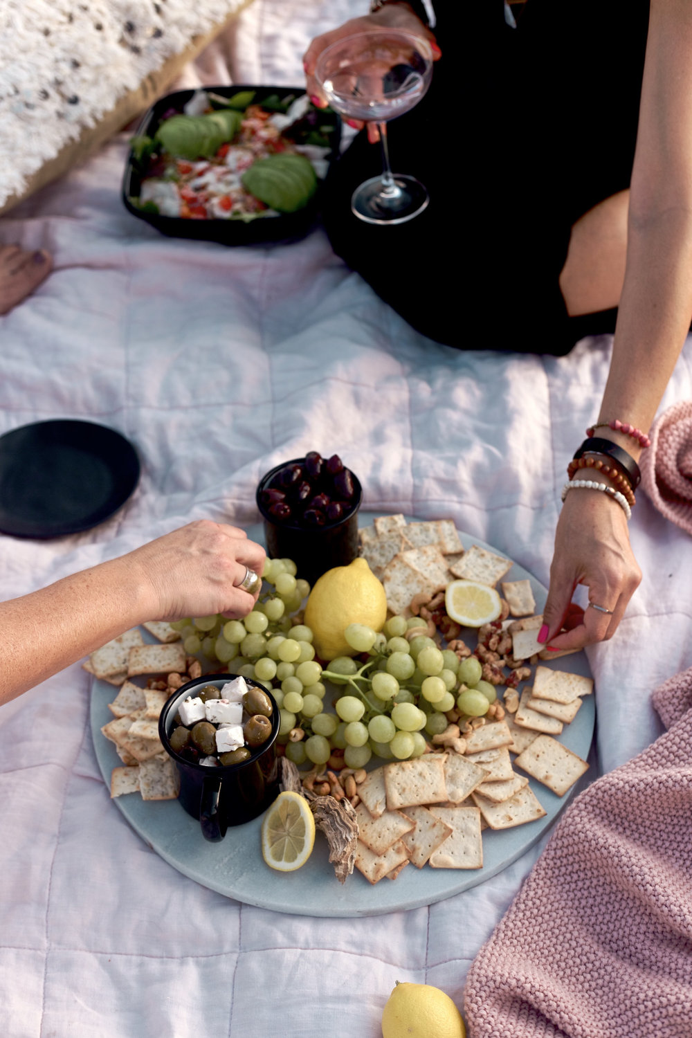 how to make this simple snack platter for your next girls night | A Fabulous Fete