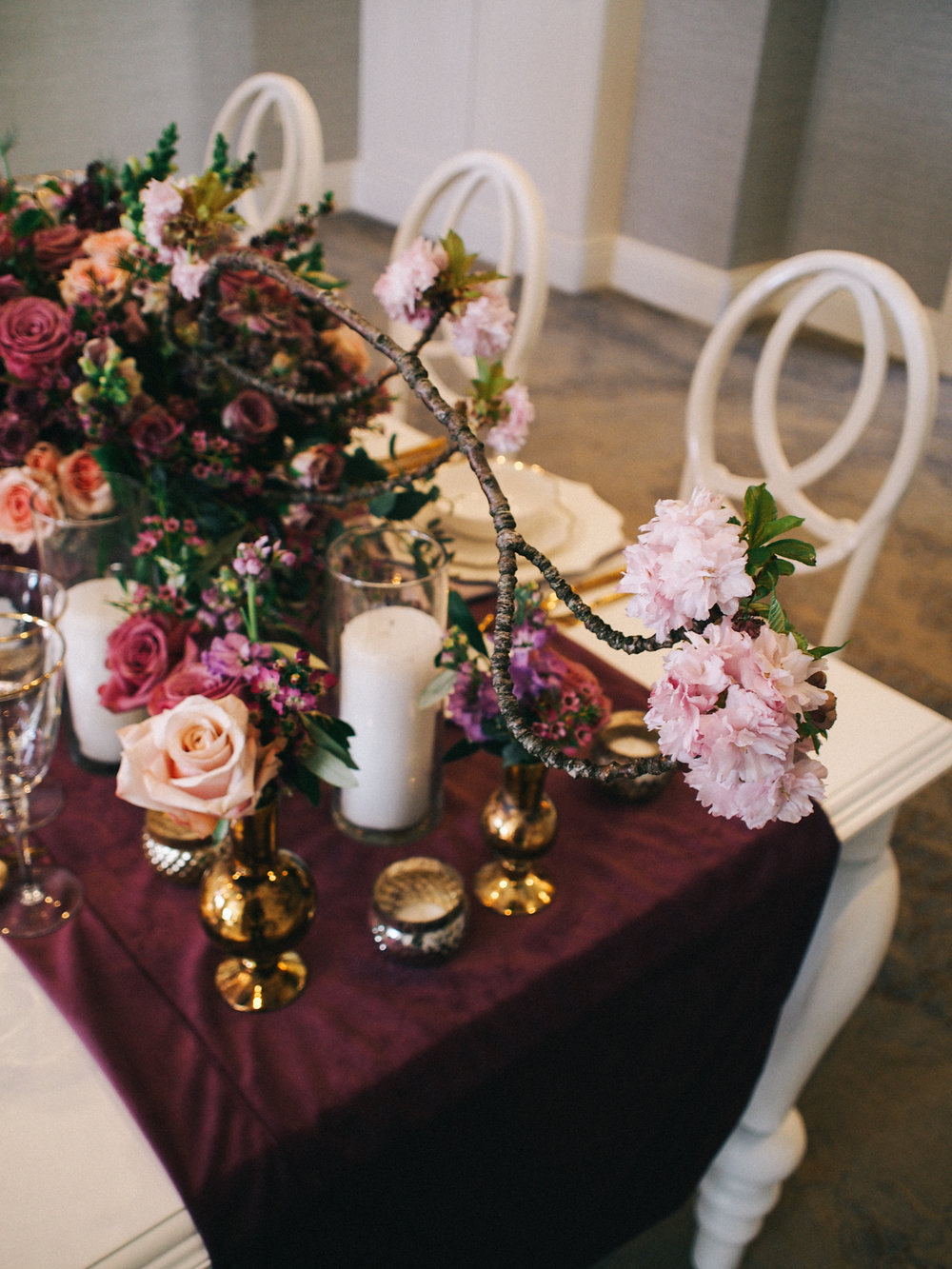 Gorgeous violet and blush tones | A Fabulous Fete