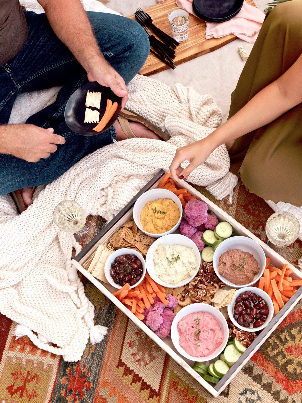 Healthy Hummus Snack Platter | A Fabulous Fete