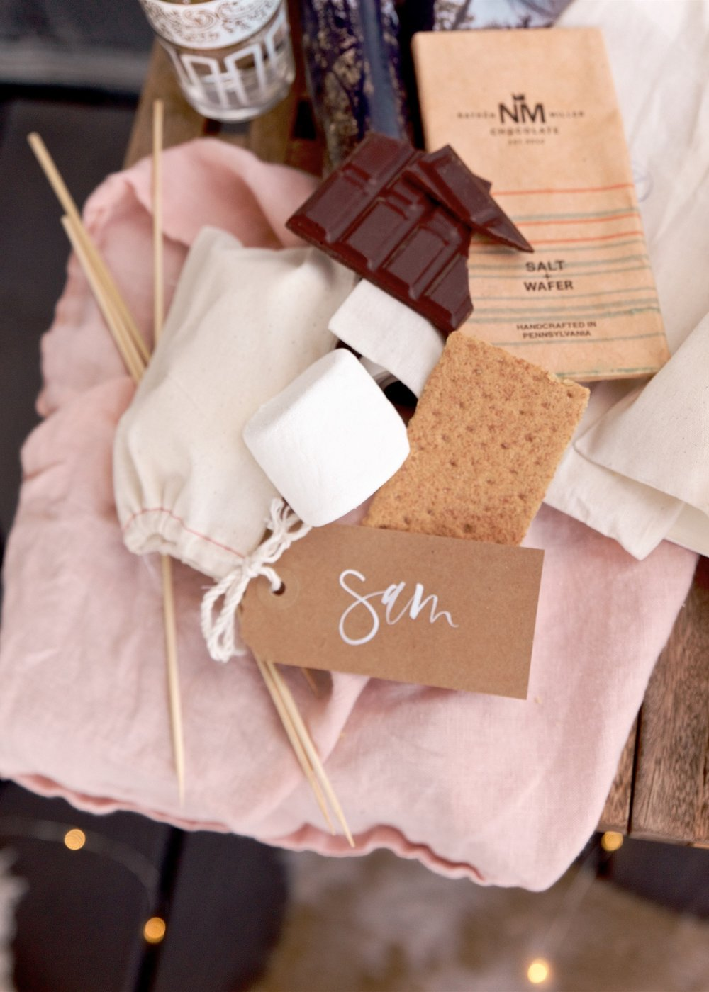 Hand lettered tags for individual s'more kits | A Fabulous Fete