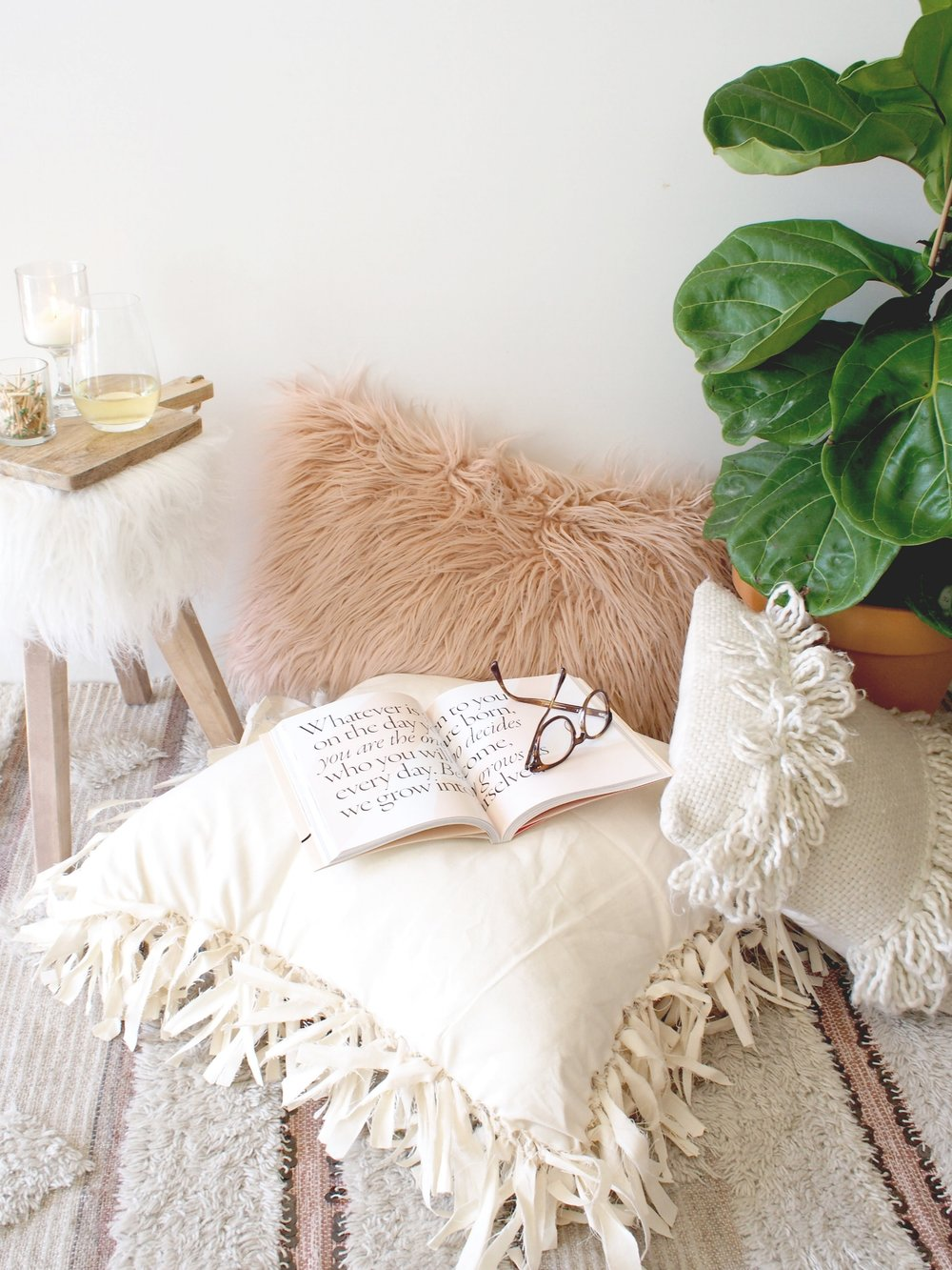 Get Your Home Ready For Fall With This No Sew Floor Pillow DIY — A ...
