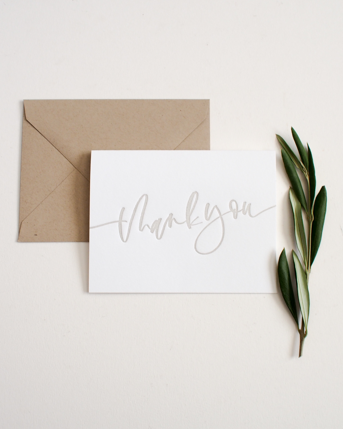 Letterpress Thank You Cards – Set of 10