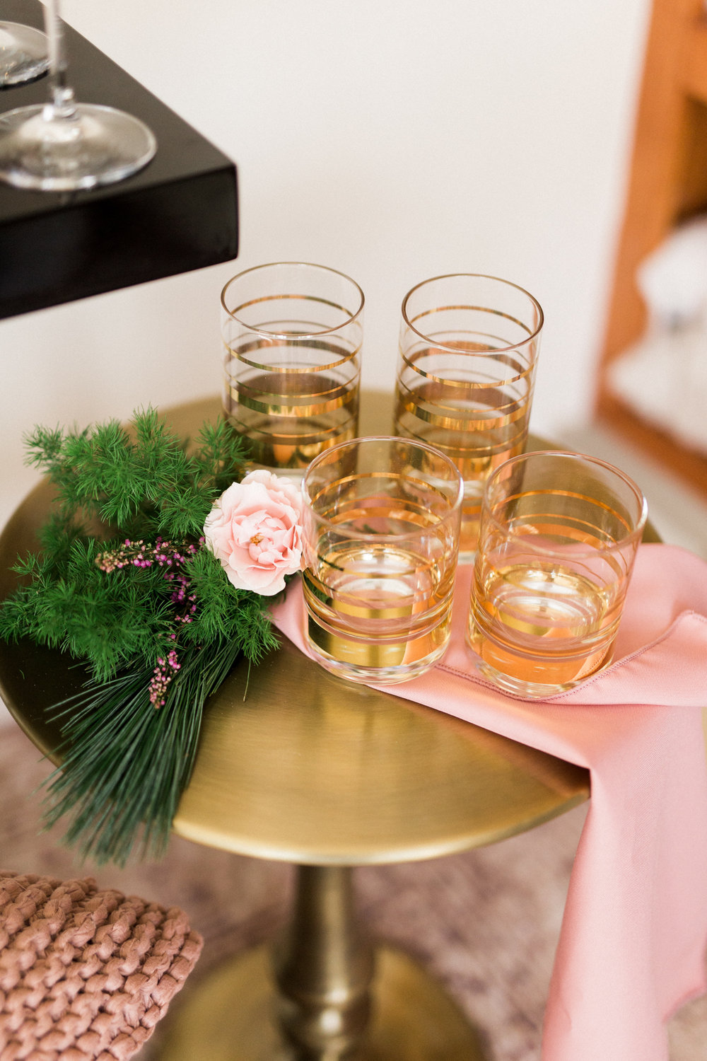 Kate Spade gold striped glasses  | A Fabulous Fete