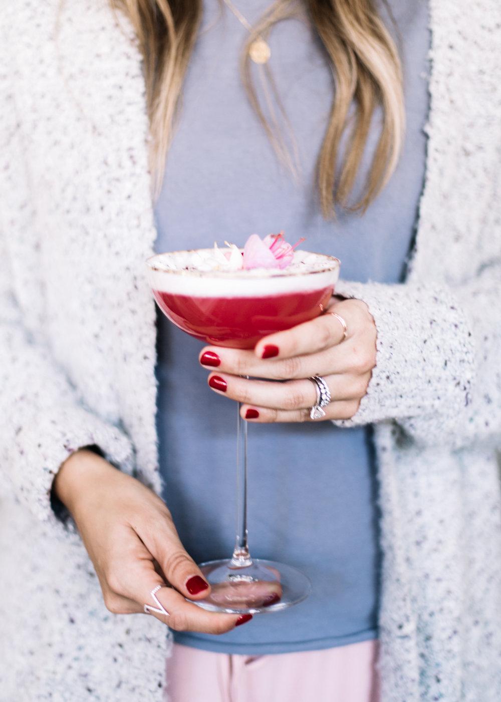 Floral Champagne Spritzer | A Fabulous Fete