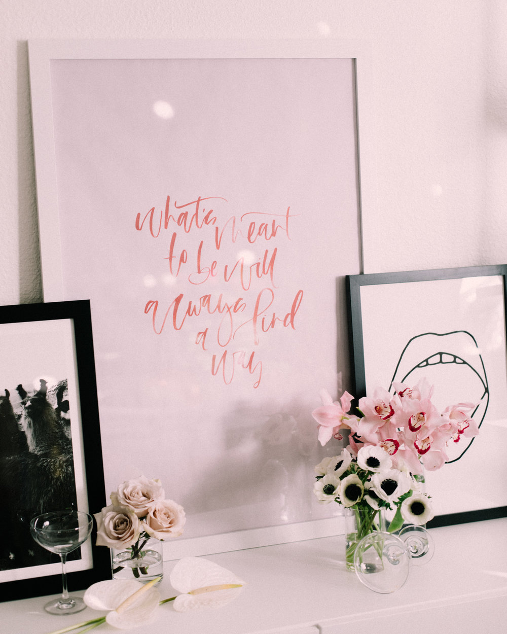Free oversized hand lettered valentines day printables | A Fabulous Fete