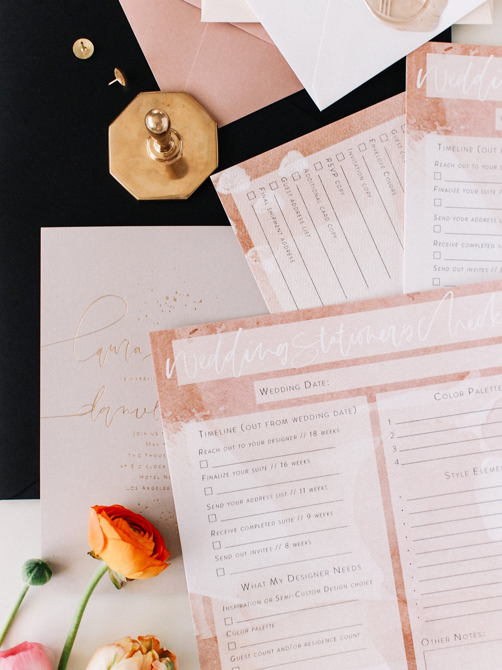 Downloadable Wedding Invitation Checklist | A Fabulous Fete