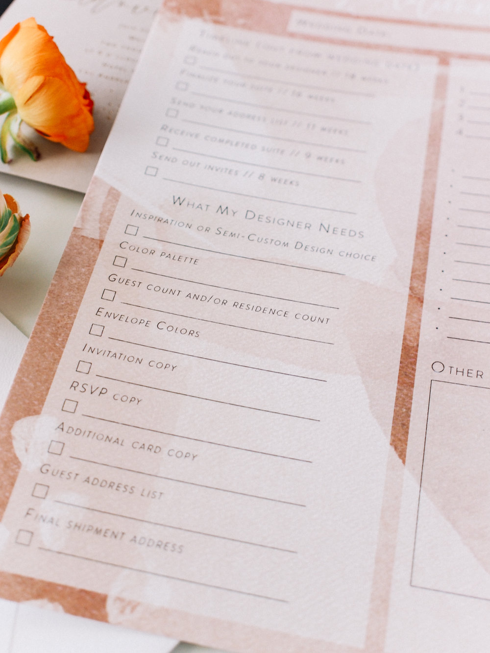 Print this free wedding stationery checklist if you aren't sure where to start | A Fabulous Fete