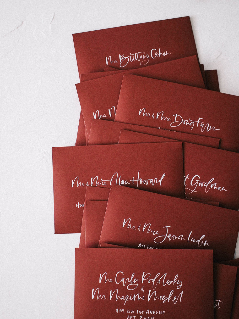 How to hand letter dark envelopes in white | A Fabulous Fete