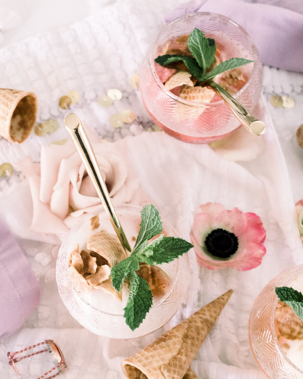 Champagne Ice Cream | A Fabulous Fete
