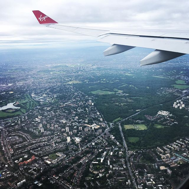 Wrapping up a very fast 48 hours in the States, for a family funeral. Landing in Heathrow London this morning. Looking forward  our last two weeks in England. #virginatlantic #2moreweeks