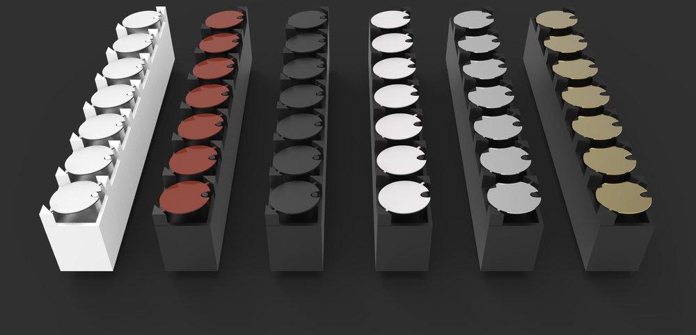 flip-discs (flip-dots) colors