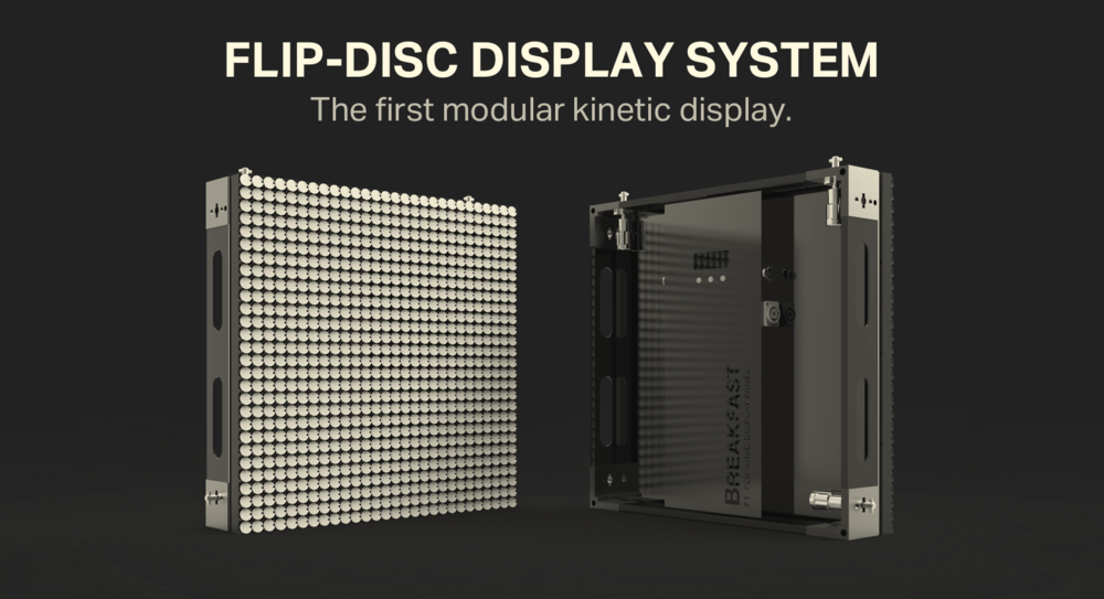 Flip-Disc (flip-dot) Display System
