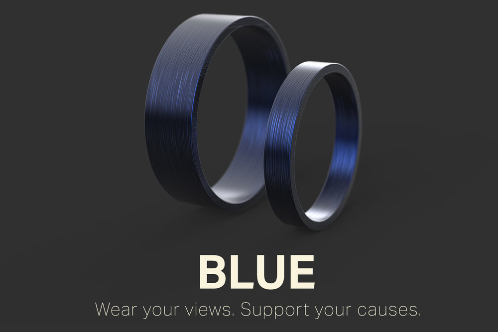 Blue Ring - Wear your views. Support your causes.