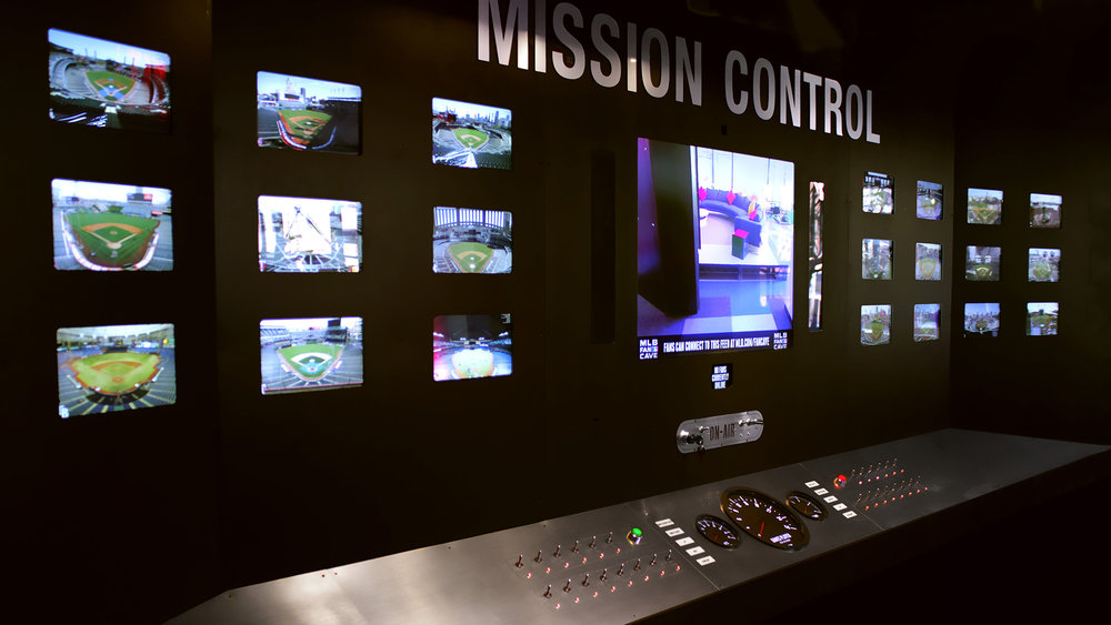 MLB Mission Control Interactive Installation